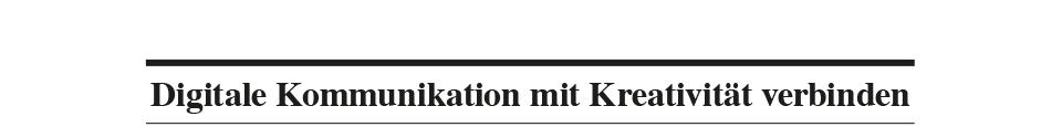 Titel, Damit digitale Kommunikation funktioniert
